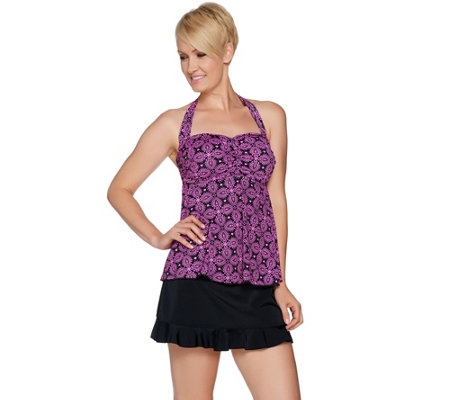 a289463.001?$uspdlarge$ fit 4 u d's & e's supportini swimsuit with skirt page 1 qvc com,Fit 4 U Swimwear Qvc