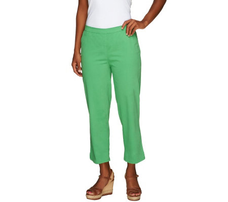"""As Is"" Liz Claiborne New York Petite Hepburn Pull-on Crop Pants"
