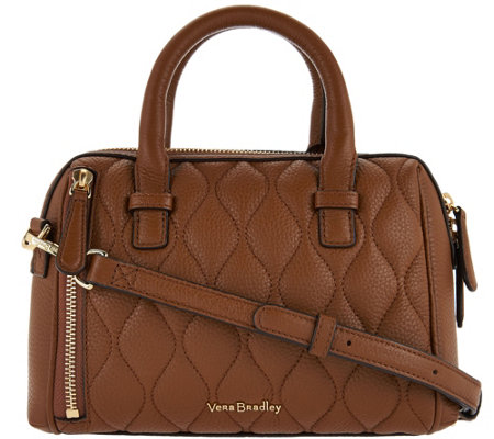 """As Is"" Vera Bradley Quilted Leather Crossbody - Mini Marlo"