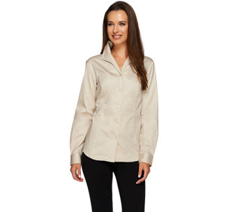 """As Is"" Linea by Louis Dell'olio Wing Collar Blouse - A291263"