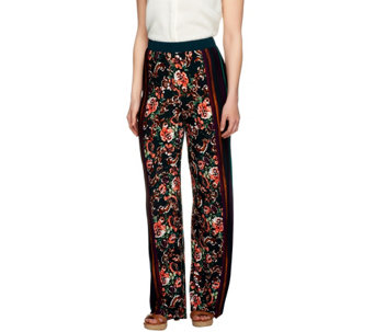 """As Is"" George Simonton Petite Printed Milky Knit Wide Leg Pants - A291463"