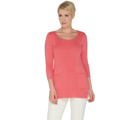 Linea by Louis Dell'Olio Whisper Knit Sweater with Pockets