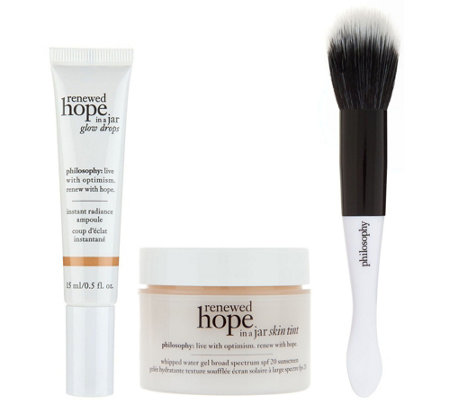 philosophy renewed hope & glow skin kit