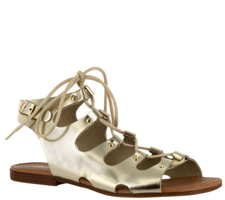 Bella Vita Lace-up Leather Sandals - Oriana