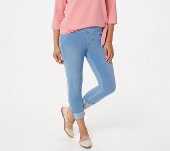 d2ad7a534207c Belle by Kim Gravel Petite Flexibelle Cuffed Jeans - A345863
