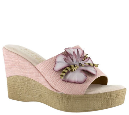 Tuscany by Easy Street Wedge Sandals - Castello