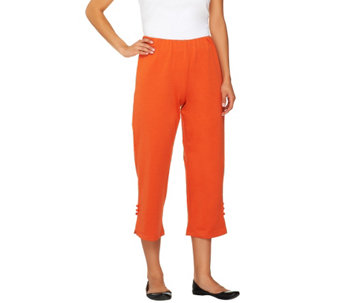 Bob Mackie's Stretch Ponte Knit Crop Pants - A05664