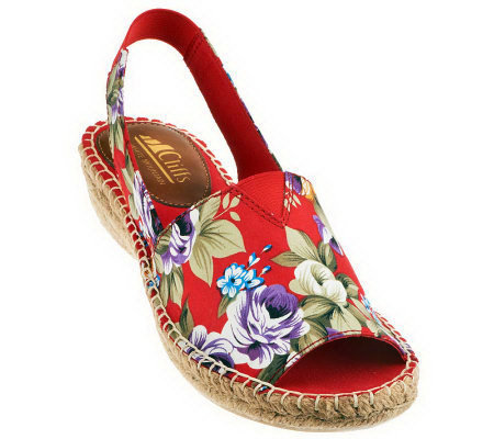 Cliffs by White Mountain Floral Espadrilles - Chyme
