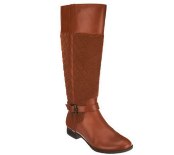 Isaac Mizrahi Live! Quilted Tall Shaft Riding Boots - A236964