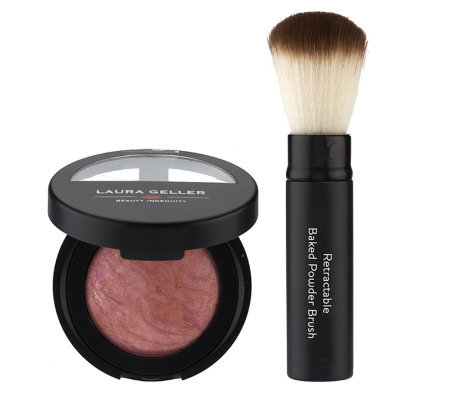 Laura Geller Baked Pink Buttercream Blush-N- Brightenw/Brush