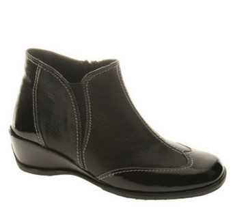 Spring Step Style Coty Leather Ankle Boots - A242064