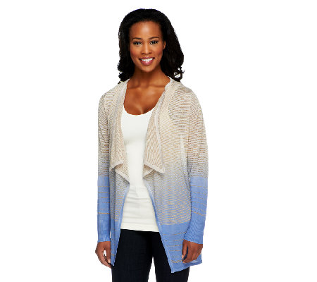 Attitudes by Renee Dip Dye Cardigan Sweater