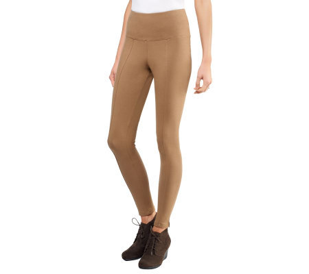 Women with Control Tummy Control Leggings with Seam Detail