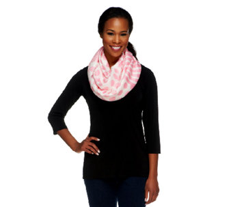 Joan Rivers Polka Dots and Stripes Infinity Scarf - A253364