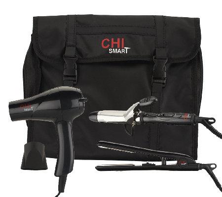 CHI Smart Travel Dryer Styling Iron Amp Curling Iron W
