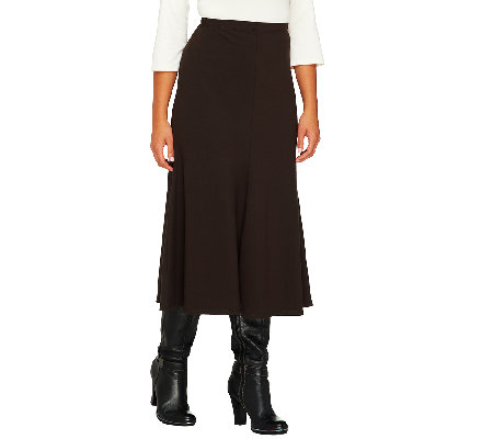 Women with Control Regular Cotton Jersey Pull-On Fluted Skirt