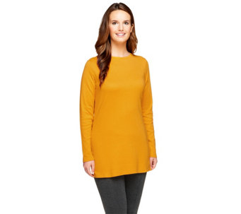 Isaac Mizrahi Live! Essentials Long Sleeve Knit Tunic - A256464