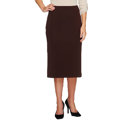 Susan Graver Premier Knit Pull-On Slim Skirt