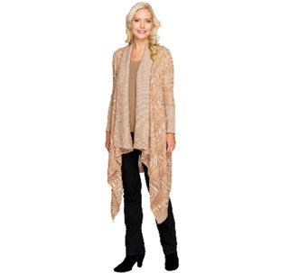 Edge by Jen Rade Open Front Cascade Sweater - A258264