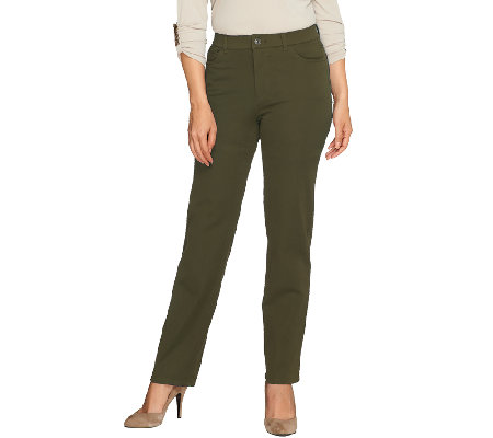 Isaac Mizrahi Live! Petite 24/7 Stretch 5 Pocket Pants