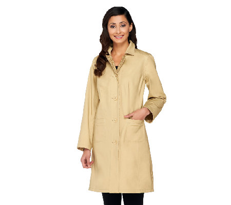 Isaac Mizrahi Live! Reversible Water Repellant Coat