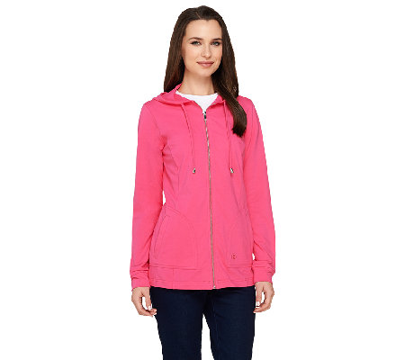 Linea Leisure by Louis Dell'Olio Zip Front Hoodie
