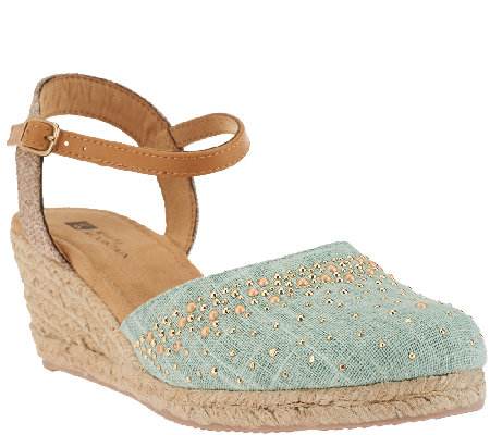 White Mountain Closed-toe Espadrille Wedges Sail Boat
