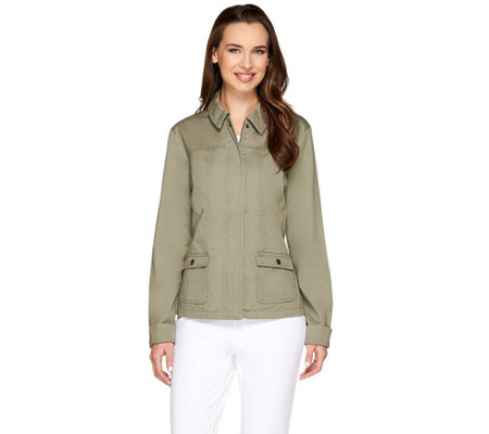 Liz Claiborne New York Zip Front Safari Jacket