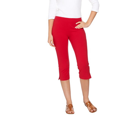 Susan Graver Weekend Cotton Spandex Pedal Pusher Leggings