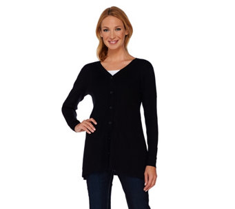 Linea by Louis Dell'Olio Whisper Knit V-Neck Cardigan - A267864