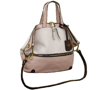 """As Is"" orYANY Nikki Italian Leather Satchel - A268864"