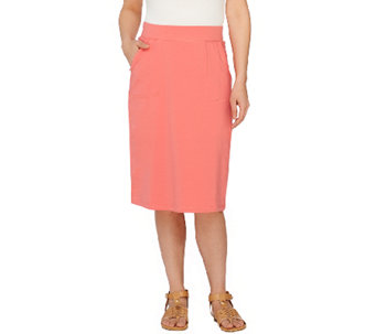 """As Is"" Denim & Co. Active French Terry Skirt with Pockets - A270764"