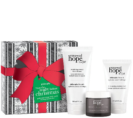 philosophy renewed hope 3 pc skincare collection w/ gift box