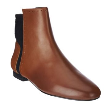 LOGO by Lori Goldstein Low Shaft Pebble Leather Boots