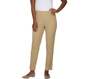 Isaac Mizrahi Live! Petite 24/7 Stretch Ankle Pants w/ Seam Detail - A275664