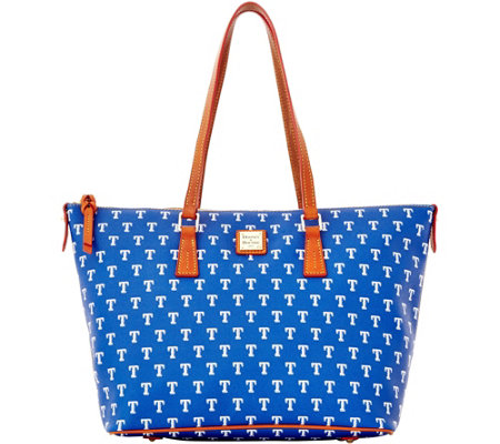 Dooney & Bourke MLB Rangers Zip Top Shopper