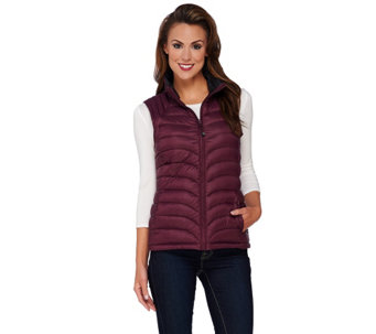 """As Is"" Liz Claiborne New York Packable Quilted Vest - A280564"