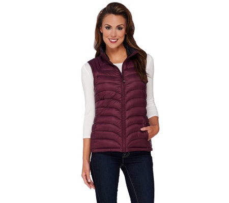 """As Is"" Liz Claiborne New York Packable Quilted Vest"
