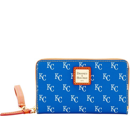 Dooney & Bourke MLB Royals Zip Around Phone Wristlet