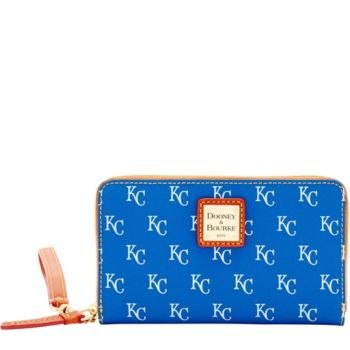 Dooney & Bourke MLB Royals Zip Around Phone Wristlet