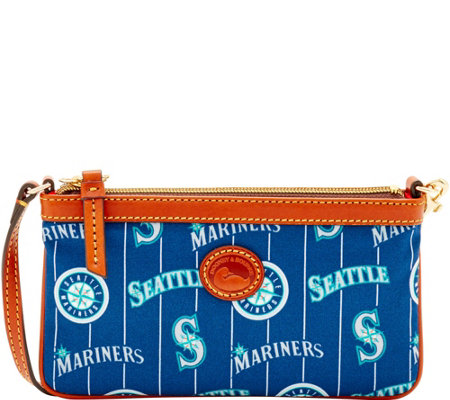 Dooney & Bourke MLB Nylon Mariners Large Slim Wristlet