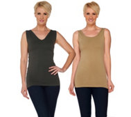 skinnytees Seamless Reversible Layering Tank Top Set