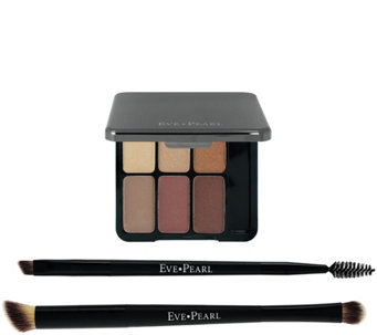 EVE PEARL Au Natural Eye Palette w/ Double Ended Brushes - A282064