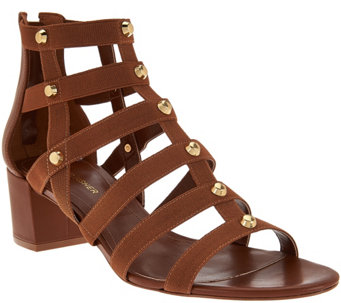 """As Is"" Marc Fisher Gladiator Block Heel Sandals - Julee - A284464"