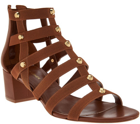 """As Is"" Marc Fisher Gladiator Block Heel Sandals - Julee"