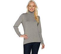 Dennis Basso Long Sleeve Knit Turtleneck Sweater - A284864