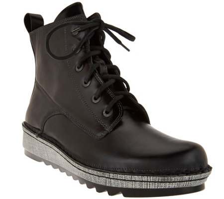 Naot Leather Lace-up Boots - Gazania
