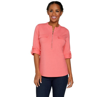 Belle by Kim Gravel Choice of Solid or Print Utility Shirt