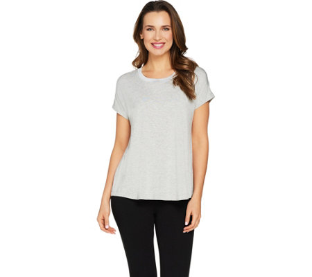 H by Halston Essentials Scoopneck Extended Shoulder Tee