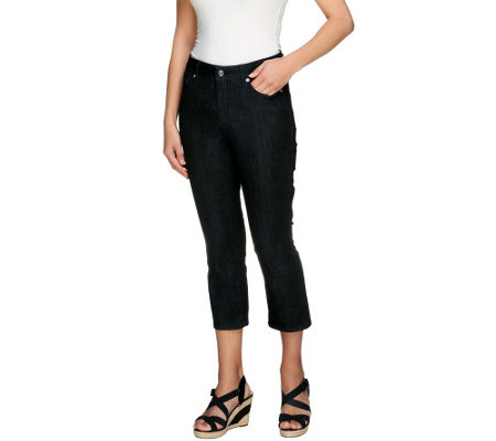 """As Is"" Isaac Mizrahi Live! Icon Grace Regular Cropped Denim Jeans"